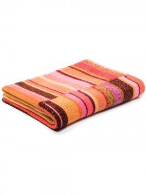 Кашемировое одеяло в полоску The Elder Statesman. Цвет: оранжевый