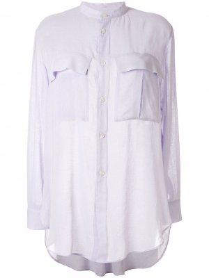 Ys блузка с воротником-стойкой Y's. Цвет: фиолетовый
