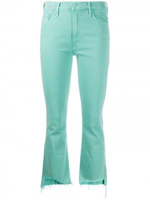 Укороченные джинсы с необработанными краями Mother. Цвет: синий