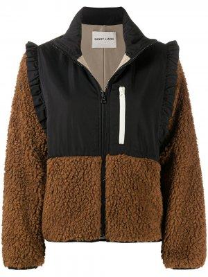 Куртка Mia с оборками Sandy Liang. Цвет: черный