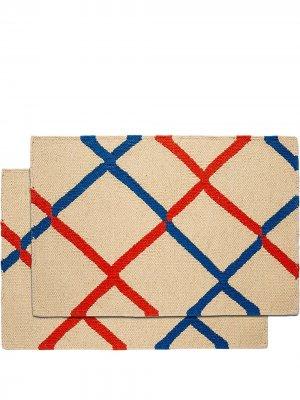 Набор из двух сервировочных салфеток Karim La Doublej. Цвет: нейтральные цвета