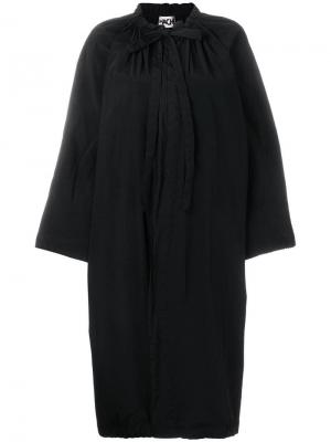 Tie neck coat Hache. Цвет: черный