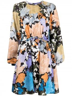 Платье Coco с цветочным принтом Stine Goya. Цвет: нейтральные цвета