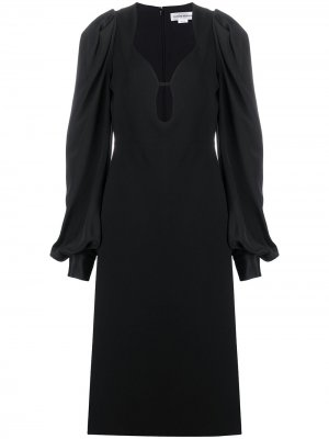Платье с объемными рукавами Victoria Beckham. Цвет: черный