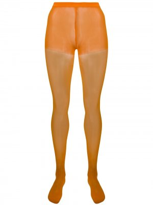 Полупрозрачные носки с завышенной талией Junya Watanabe. Цвет: оранжевый