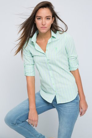 Рубашка U.S. Polo Assn.. Цвет: зеленый