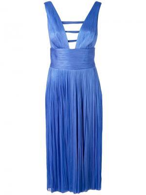 Коктейльное платье с глубоким вырезом Maria Lucia Hohan. Цвет: синий