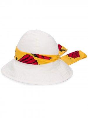 Шляпа с лентой Mini Rodini. Цвет: белый