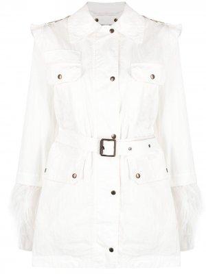Куртка со съемным болеро Mr & Mrs Italy. Цвет: белый