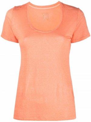 Футболка из джерси 120% Lino. Цвет: оранжевый