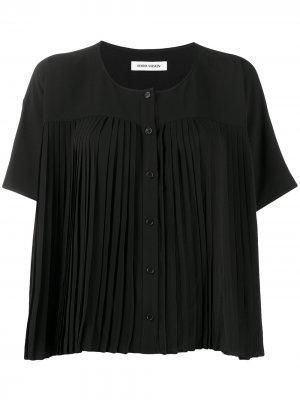 Плиссированное блузка на пуговицах HENRIK VIBSKOV. Цвет: черный