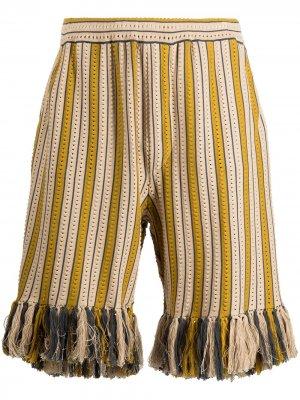 Трикотажные шорты Alvar с кулиской Cmmn Swdn. Цвет: желтый