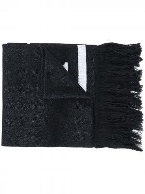 Трикотажный шарф с логотипом MCM. Цвет: черный