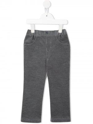 Вельветовые брюки со вставкой из джерси Familiar. Цвет: серый