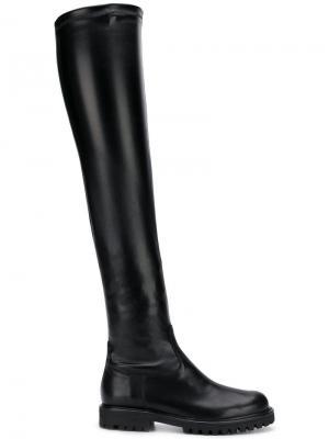 Ботфорты на низком каблуке Anna F.. Цвет: черный
