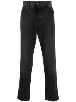 Зауженные джинсы AMI Paris. Цвет: черный