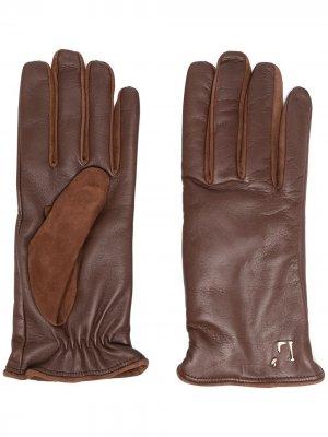 LAutre Chose перчатки с логотипом L'Autre. Цвет: коричневый