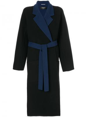 Пальто-халат Rochas. Цвет: синий