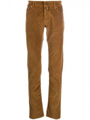 Вельветовые брюки Comfort Fit Jacob Cohen. Цвет: коричневый