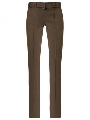 Расклешенные брюки Gloria Coelho. Цвет: коричневый