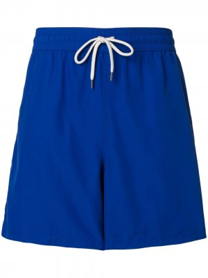Пляжные шорты с вышитым логотипом Polo Ralph Lauren. Цвет: синий