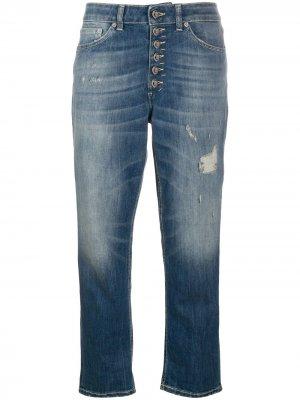 Укороченные джинсы Koons свободного кроя Dondup. Цвет: синий