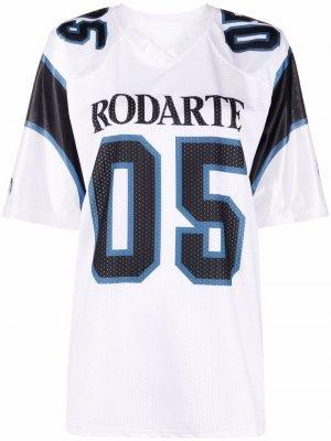 Футболка с логотипом Rodarte. Цвет: белый