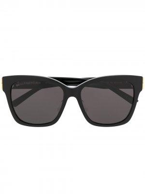 Солнцезащитные очки в оправе кошачий глаз с затемненными линзами Balenciaga Eyewear. Цвет: черный