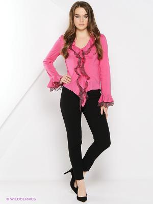 Блуза Artwizard. Цвет: розовый