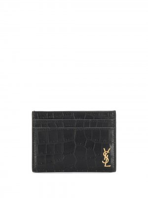 Картхолдер с декором Monogram Saint Laurent. Цвет: черный