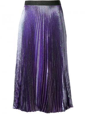 Lame pleated skirt Christopher Kane. Цвет: фиолетовый