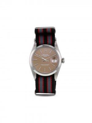 Наручные часы Oyster Perpetual Date pre-owned 34 мм 1974-го года Rolex. Цвет: коричневый