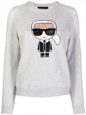 Толстовка Iconic Karl Lagerfeld. Цвет: серый