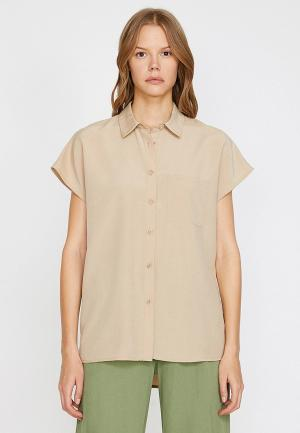 Рубашка Koton. Цвет: бежевый