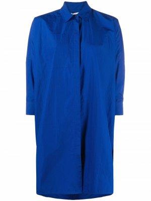 Рубашка оверсайз на пуговицах Co. Цвет: синий