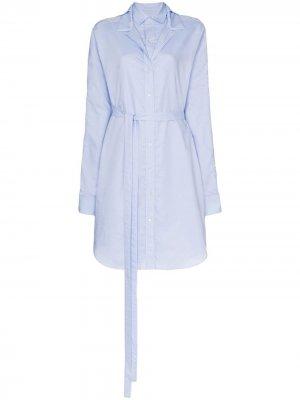 Многослойное платье-рубашка Y/Project. Цвет: f40 light голубой