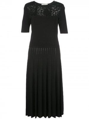 Платье миди с контрастными вставками Jason Wu Collection. Цвет: черный