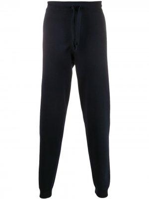 Зауженные спортивные брюки Corneliani. Цвет: синий