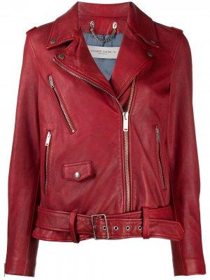 Байкерская куртка Golden Goose. Цвет: красный