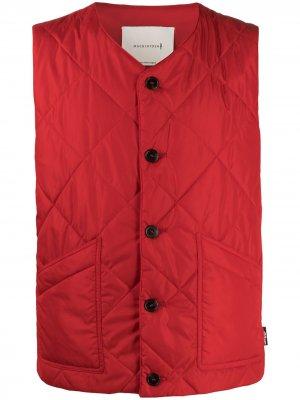Стеганый жилет Mackintosh. Цвет: красный