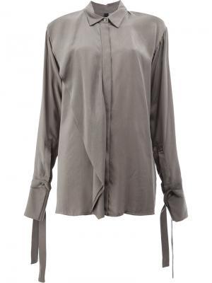 Рубашка с откидными деталями Ilaria Nistri. Цвет: серый