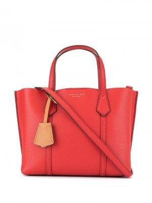 Маленькая сумка-тоут Perry Tory Burch. Цвет: красный
