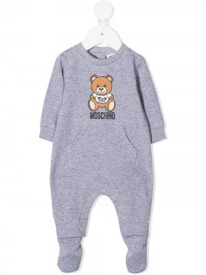 Пижама Teddy Bear Moschino Kids. Цвет: серый