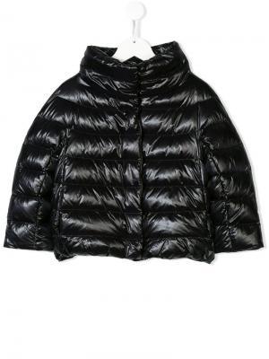 Пуховая куртка на молнии Herno Kids. Цвет: черный