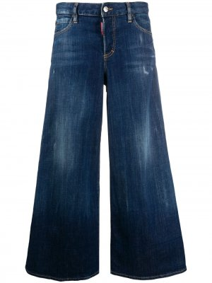 Укороченные расклешенные джинсы Dsquared2. Цвет: синий