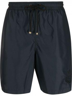 Плавки-шорты с вышитым логотипом Billionaire. Цвет: черный
