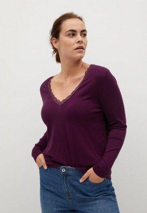 Пуловер Violeta by Mango. Цвет: фиолетовый