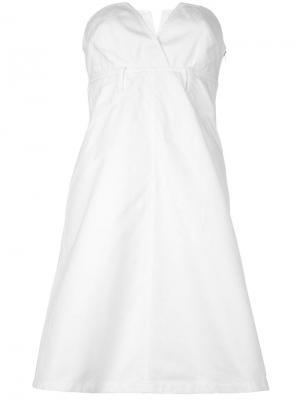 Платье без лямок Christian Lacroix Vintage. Цвет: белый