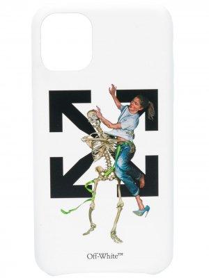 Чехол Pascal Skeleton для iPhone 11 Off-White. Цвет: белый