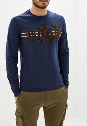 Лонгслив Aeronautica Militare. Цвет: синий